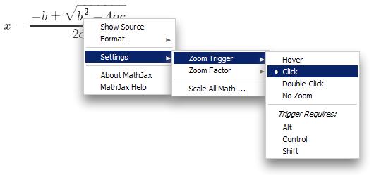 MathJax zoom trigger settings