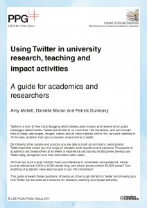 A Guide to Twitter by LSE