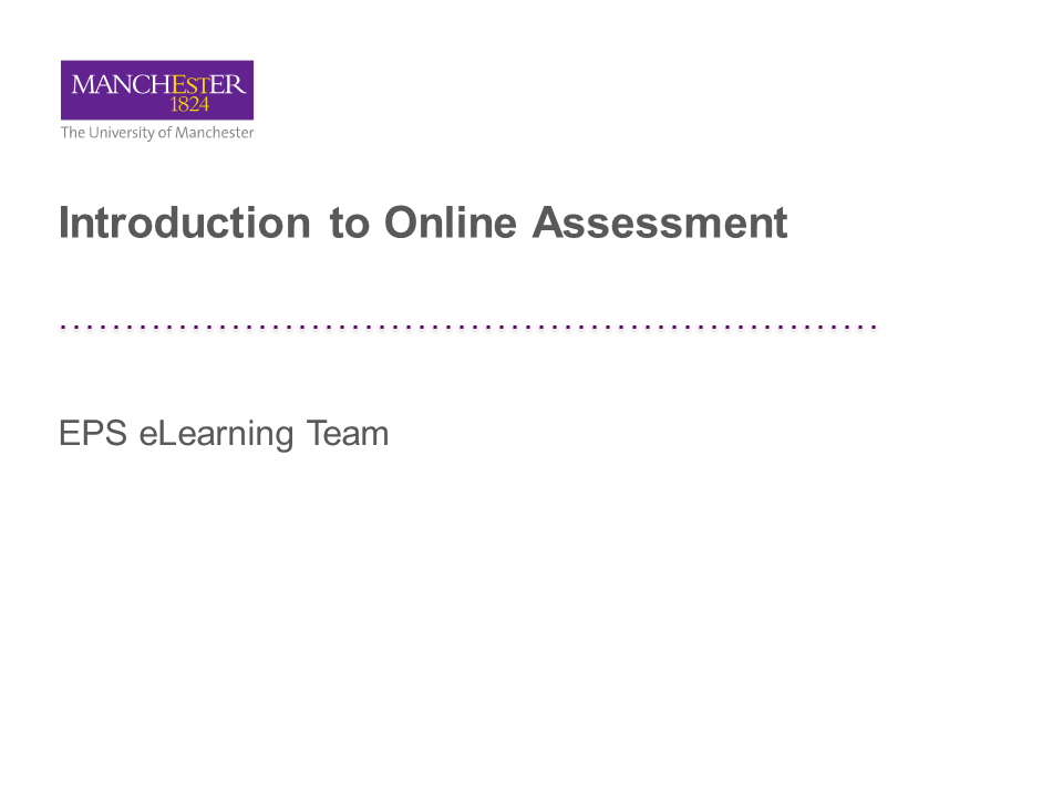 An introduction to Online Assignments