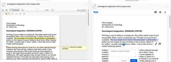 Box View: new look and functionality in Blackboard's assignment annotation tool